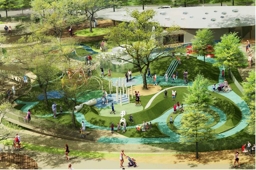 Inner-city park in Houston, Texas re-opens after 15-year ...